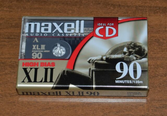 Maxell XL II High Bias 90 Minute Blank Cassette Audio Tape - NEW SEALED