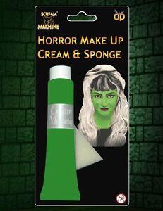 Halloween Maquillaje Pintura De La Cara Crema-Halloween Vestido De Lujo Negro Rojo Gris Verde  </span>
