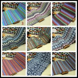 Boho Ethnic Stripe Fabric Clothes Upholstery Curtain Sofa Cushion Throw Pillow