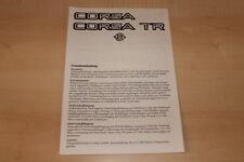 67444) Opel Corsa A + TR - technische Daten & Ausstattungen - Prospekt 08/1983