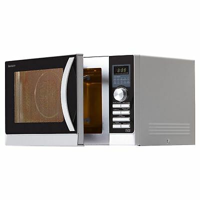 Sharp R843SLM Combination Microwave Oven 25L Capacity 900W Silver
