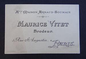 Carte De Visite MAURICE VITET Brodeur Maison Arnaud