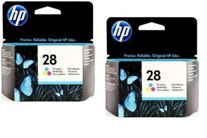 Lot of 2 HP #28 28 Color Ink Cartridges NEW GENUINE