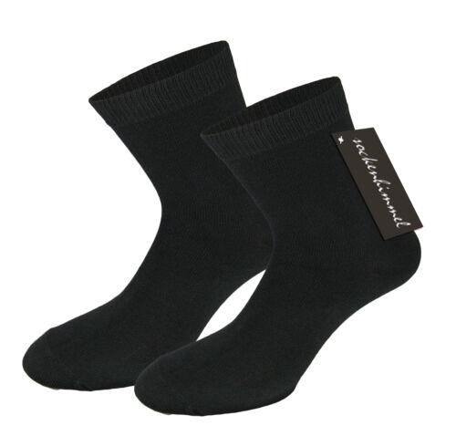 Damensocken in schwarz mit viel Baumwolle 10er Pack Socke mit mittelstarkem Bund