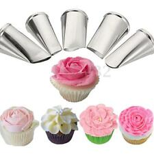 5 Patten Flower Petal Icing Piping Tip Nozzles Cake Decorating Tools Pastry New