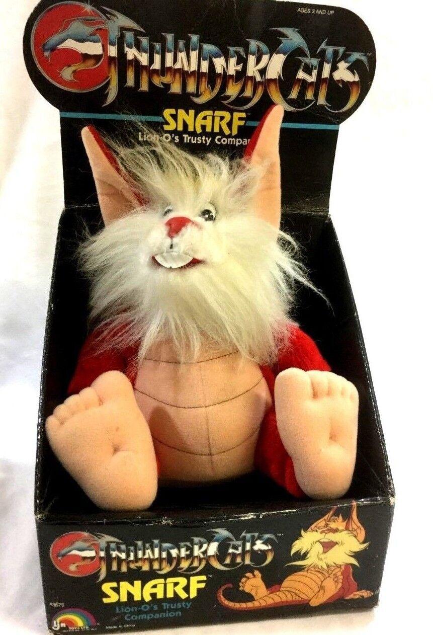 1986 LJN Toys Thundercats Snarf Lion-O's Trusty Companion Plush Doll Boxed Nuovo