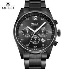 Montre Luxe Classique Top Qualité Homme Mégir Date Chronograph Etanche Men Watch