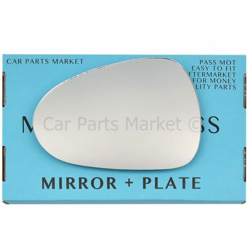 For Seat Ibiza 08-17 Left passenger side Flat wing mirror glass with plate