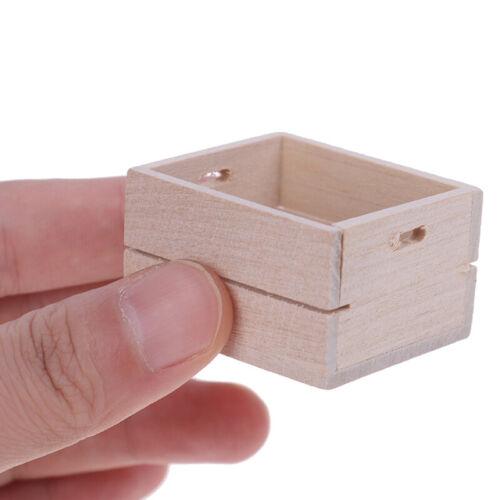 1:12 Dollhouse  Miniature Wooden Vegetable Fruits Basket Furniture AccessorPLUS
