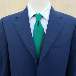 c331f70e74 Details about Recent Canali Travel Dark Blue Gauze Like Wool 1/2 Lined  Sport Coat Blazer 40R