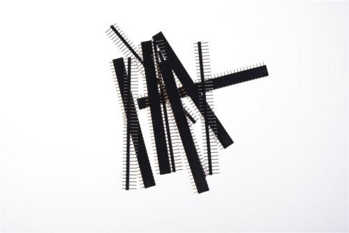 Schwarz 40 Pin 2,54 mm Einreihig Gerade Male Female Pin Header Streifen ZP