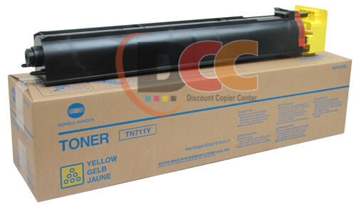 TN711Y  Genuine Konica Minolta Yellow Toner For C754 A3VU230