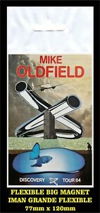 Mike-Oldfield-Discovery-Tour-84-LABEL-FLEXIBLE-BIG-MAGNET-IMAN-GRANDE