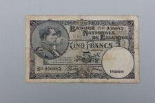 Belgien - 5 Francs 6.04.1938