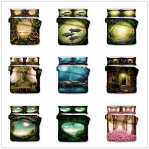 3D-Dream-Forest-Green-Bedding-Set-Duvet-Cover-Pillowcase-Quilt-Comforter-Cover