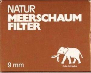 WHITE-ELEFANT-NATUR-MEERSCHAUMFILTER-9-MM-PFEIFEN-FILTER-10-x-40-STUCK