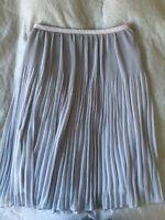 Knælang nederdel , str. 38, Zara, Støvet lyseblå
