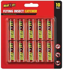 10-X-Volant-Insecte-Sticky-Bug-Guepe-Mouche-sans-Poison-Papier-Pieges-Attrape