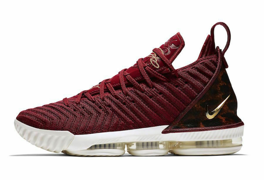 23dfd21ea95 Sz 13.5 Lebron XVI THE KING Team Red Print Basketball AO2588-601 Leopard  gold nxtjxy167-Athletic Shoes