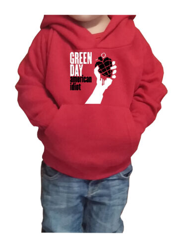 Fm10 Hooded Sweatshirt Child//a Green Day Billie Mike Cool Music