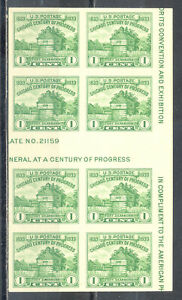 US-Stamp-L174-Scott-766-Mint-NH-Imperf-Horizontal-Gutter-Block-of-8