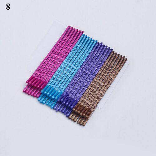 24Pcs Multicolor Hair Clips Bobby Pins Wavy Fashion Hairpins Metal Barrettes