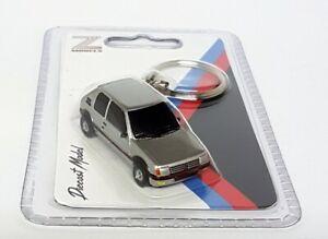 Z Models Novelty Diecast Model Car Keychain - Peugeot 205 GTi Silver Model Car