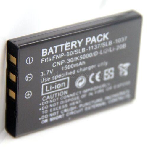 Batería para D-LI2 PENTAX Optio 330 330RS 430 430RS Nuevo
