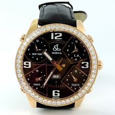 Jacob & Co. JC9RG Five Time Zone 47mm 3.25ct  18kt Gold  MSRP. $43600.00