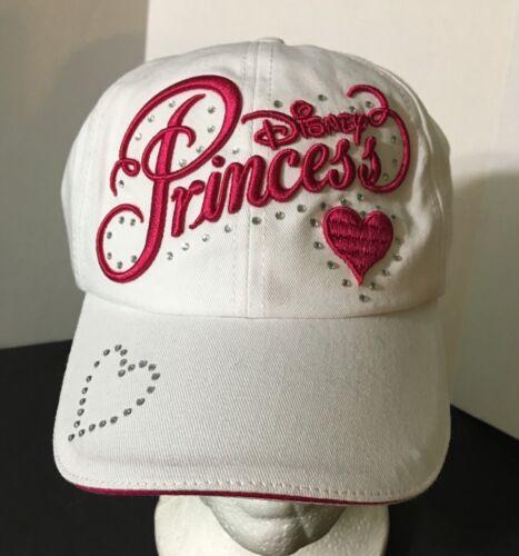 Brand New Youth Disney Parks White Princess Baseball Cap Hat Hot Pink