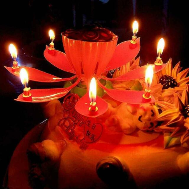 Lotus Flower Candle Musical Blossom Candles Happy Birthday Party