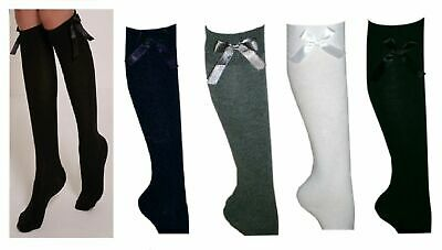 6 Pairs Girls Fashion Cotton Knee High Children Kids School Socks With Bow Size Nachfrage üBer Dem Angebot