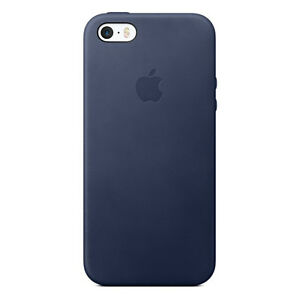 d2f2233a5be Authentic Apple iPhone SE 5 5s Leather Case Midnight Blue Mmhg2zm a ...