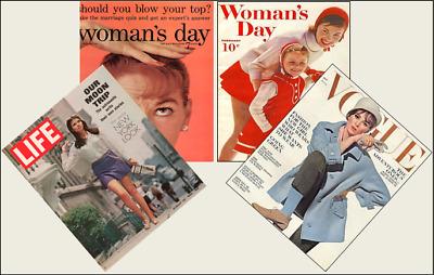 4 Miniature /'1950/'s/' Fashion Magazines Barbie Blythe Doll size 1:6 playscale