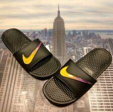 Nike Benassi JDI SE Just Do It Electro Green Black Slide Slippers AJ6745-003