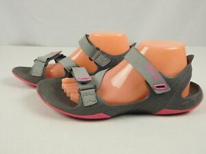 TEVA-Barracuda-1002864-Sz-10-Gray-Pink-Sport-Sandals-Hook-amp-Loop-Straps-Open-Toe