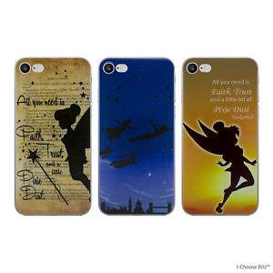 Peter-Pan-Gel-Custodia-per-Apple-IPHONE-5-5s-5c-se-6-6s-7-8-piu-Proteggi-Schermo