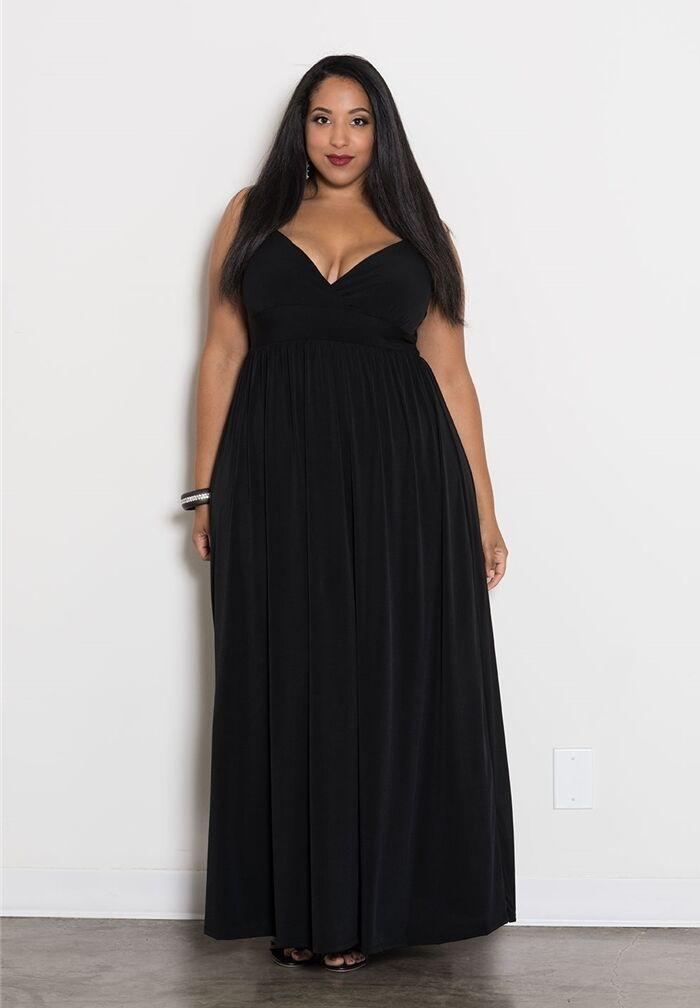 Plus Size Maxi Dress Dress Dress Empire Waist Sleeveless Polyester Blend Solid 1X-6X SWAK 68aa38