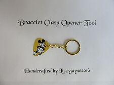 CHARM BRACELET CLASP OPENER TOOL KEY RING GOLD DISNEY xmas stocking filler