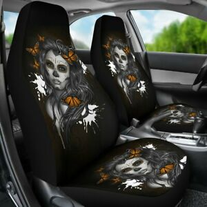 Outstanding Details About Set Of 2 Beautiful Sugar Skull Car Seat Cover Day Of The Dead Car Seat Cover Pdpeps Interior Chair Design Pdpepsorg
