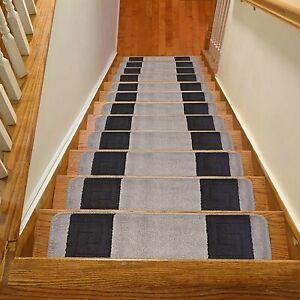 Millennium-Meander-Greek-Key-Design-Stair-Carpet-Treads-8-5-034-x30-034