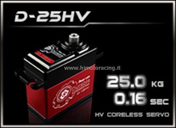 SERVO DIGITALE POWER HD Durable D-25HV High Voltage 25kg 75g .16sec CORELESS