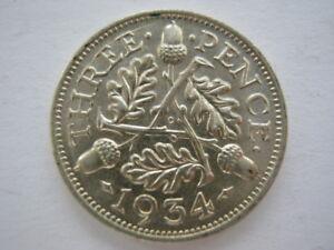 1934-silver-Threepence-GEF-1