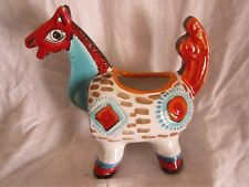 """Desimone  pottery horse from Italy, 8 1/4"""" high, 9"""" wide, (VD)"""