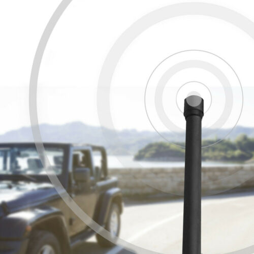 "Black Reflex 13/"" AM FM Radio Antenna for Jeep Wrangler JK JL 2007-2018"