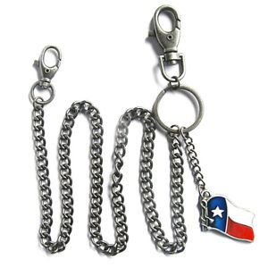 Texas-Flag-Schluesselkette-WalletchainBanner-United-States-USA-US-Flagge-Fahne