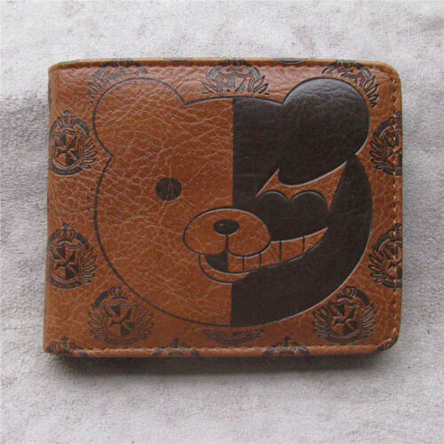 Danganronpa monokuma Leather pu Bifold Men Wallet Credit Card Holder Coin Purse