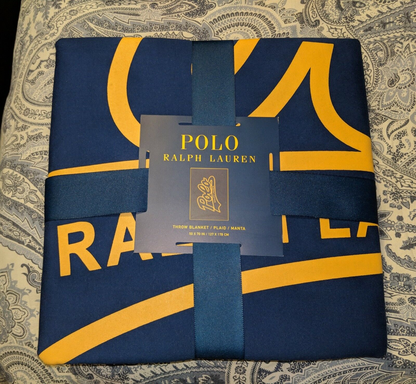 Polo Ralph Lauren Throw Blanket, NAVY 50  x 70  LIMITED EDITION