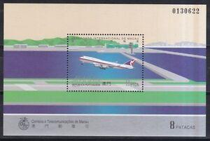 Macau-1995-postfrisch-MiNr-Block-32-Boeing-747-der-Air-Macau
