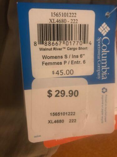 NWT Columbia Womens Walnut River Cargo Shorts ~ Tusk ~ Small